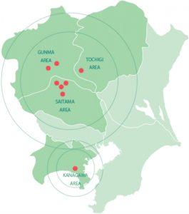 永田紙業の事業所の地図