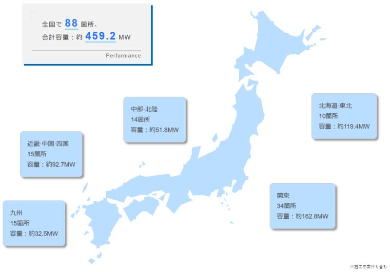 発電所MAP(マップ)